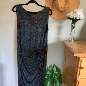 Peruvian Connection Ruched Maxi Dress
